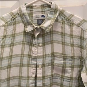 NWT Old Navy Baby Boy Plaid Poplin Rolled Sleeve Shirt Toddler Size:18-24month